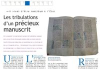 Article manuscrit BNF